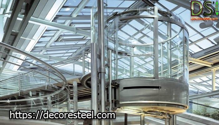 کابین آسانسور شیشه ای از چه چیزی ساخته شده است؟